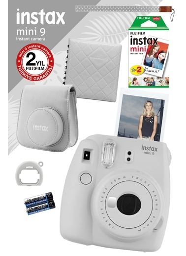 Fujifilm Instax Mini 9 Beyaz Fotoğraf Makinesi ve Hediye Seti Beyaz